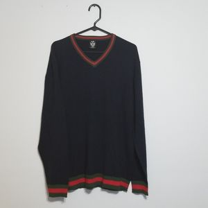 """Gucci"" V-neck Acrylic Sweater XL"